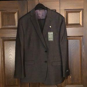 NWT Ralph Lauren 100% Wool Grey Suit 48R 43W